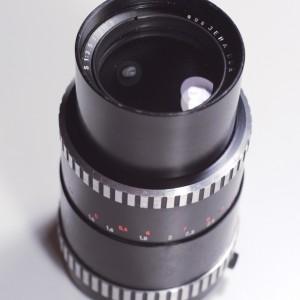 Carl Zeiss Jena Sonnar 135mm 3.5 Zebra lens