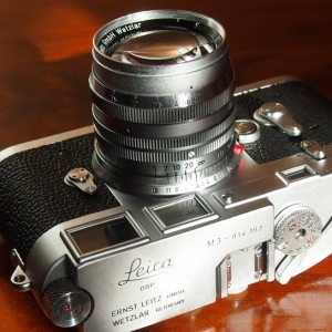 Leitz Summitar 50 1.5 on a Leica M3
